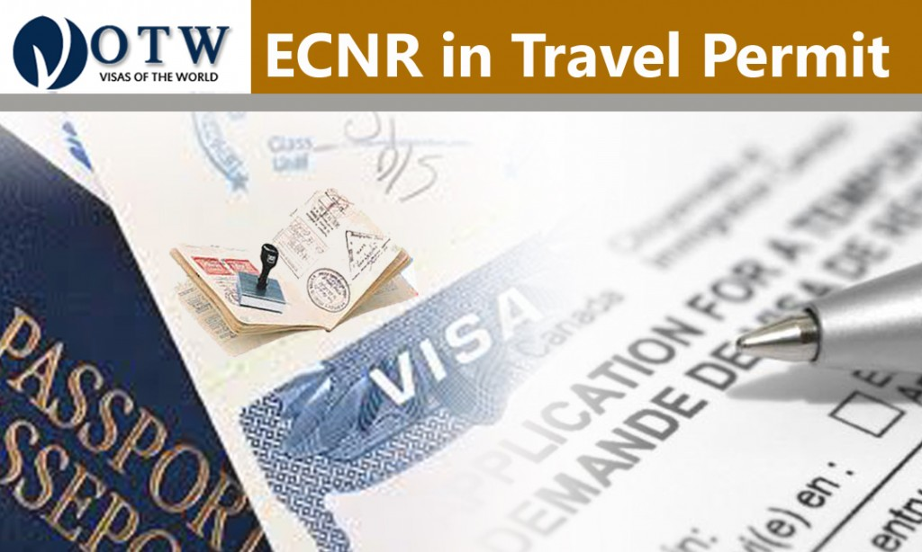 ECNR in Travel Permit